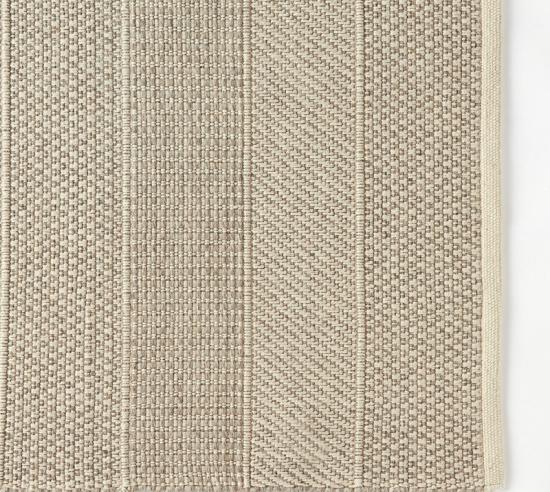 ウールコットン手織りラグ/パターンボーダー 新生活