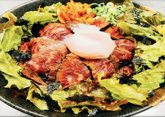 肉タレ屋の特製上ハラミステーキ丼