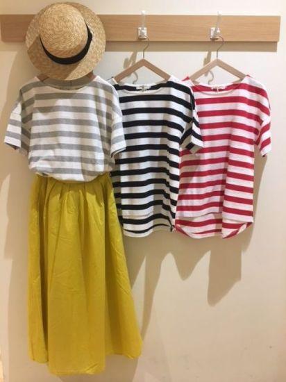 ボーダーTシャツ ボーダー,Tシャツ,涼しい,綿,夏,カジュアル,ナチュラル,かわいい,ゆったり