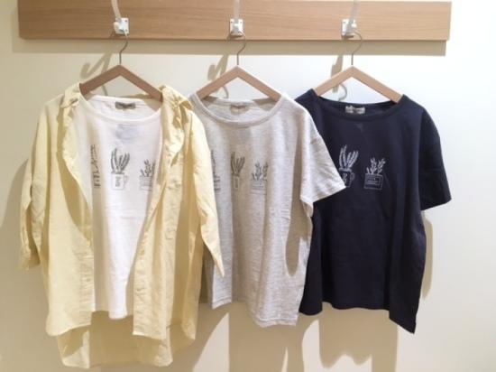ハーブプリントTシャツ Tシャツ,カジュアル,ナチュラル,夏,かわいい,